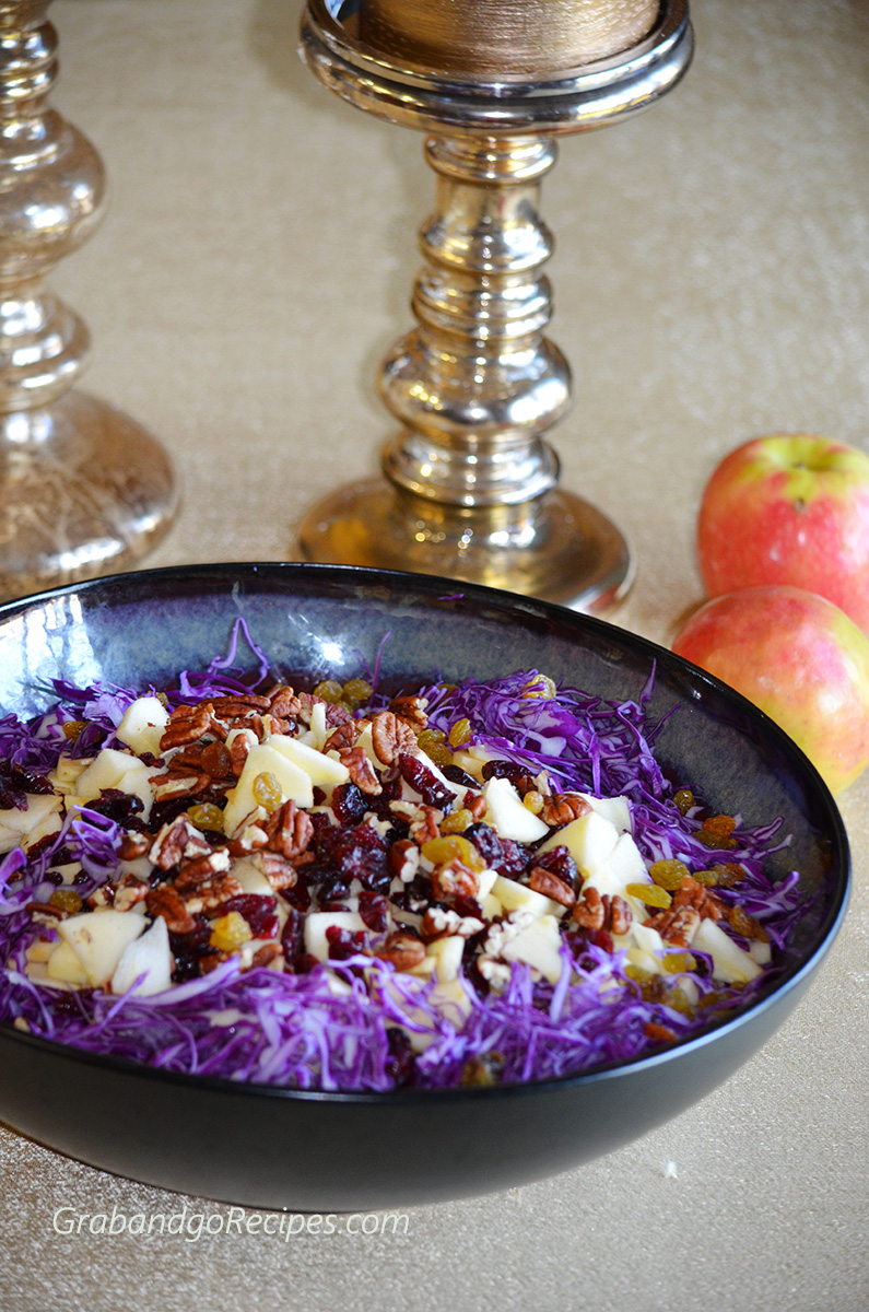 Purpule cabbage salad