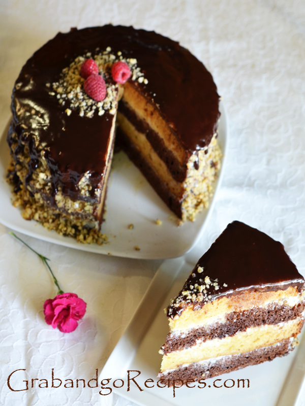Day and night cake