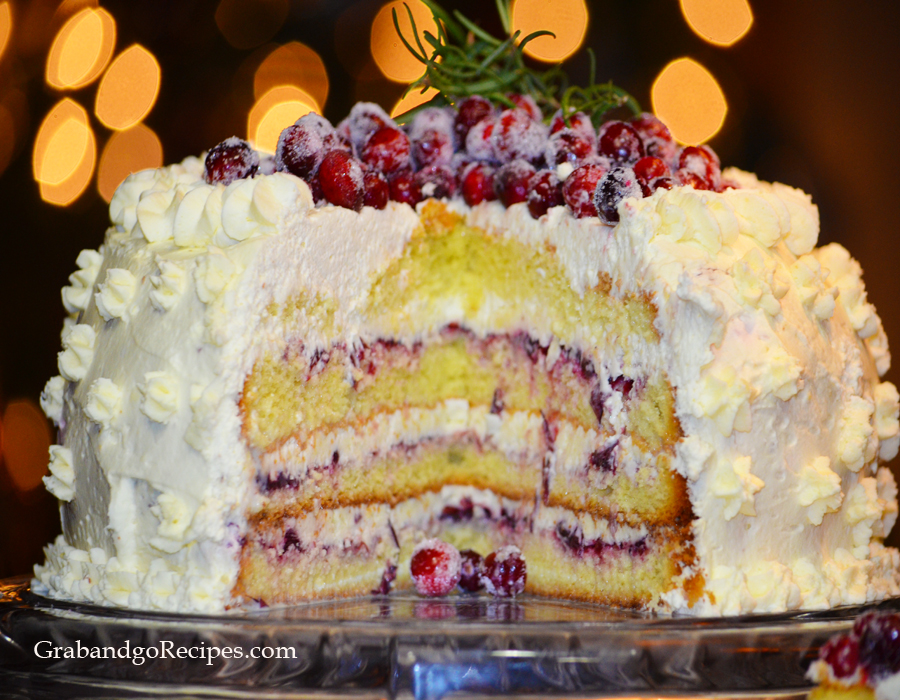 Cranberry cream cake main