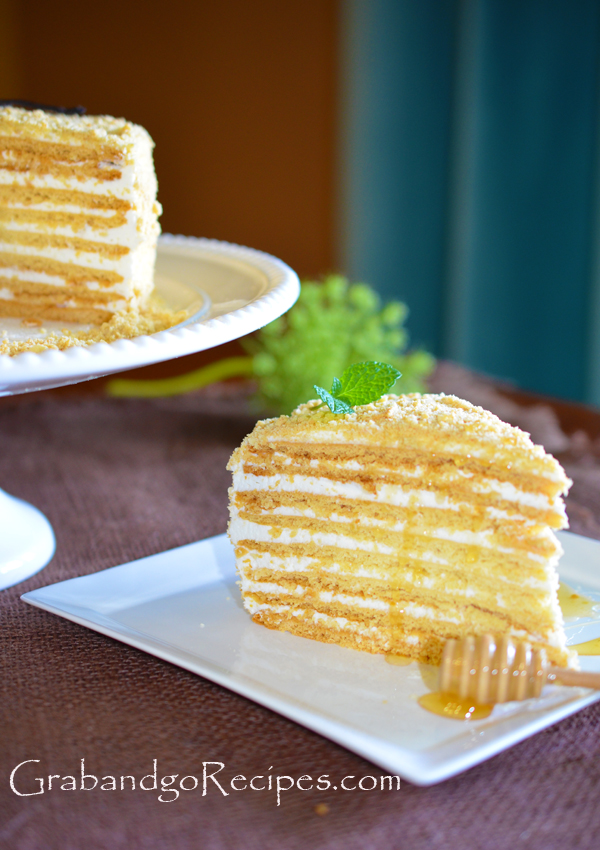 Medovik – Honey cake III- ???????  with Cream Filling