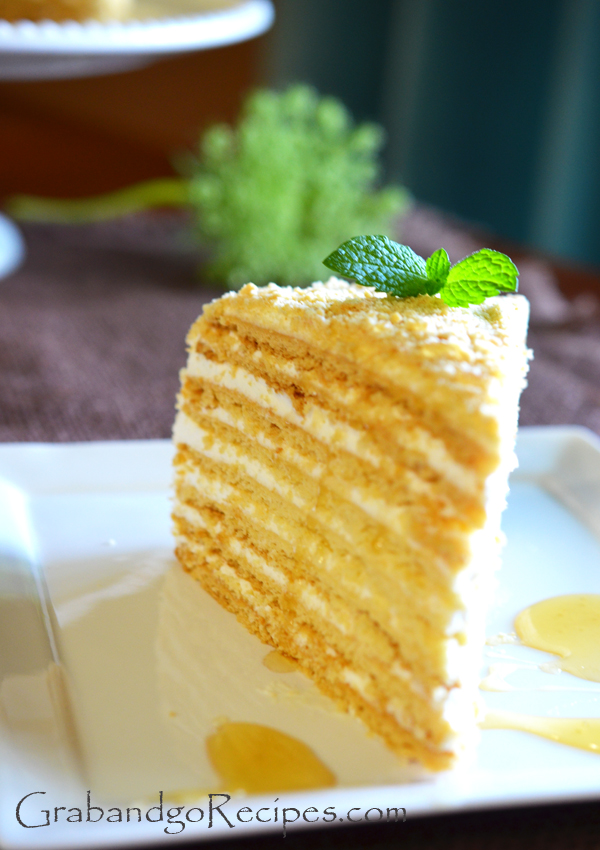 Honey cake slice