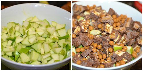 Apple Caramel Snickers Salad3