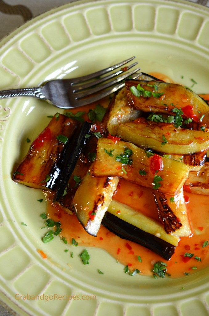 Eggplant with Sweet and Spicy Garlic Sauce 3