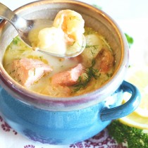 creamy fish soup 2