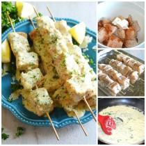 fish kabobs with garlic parmesan cream sauce 4