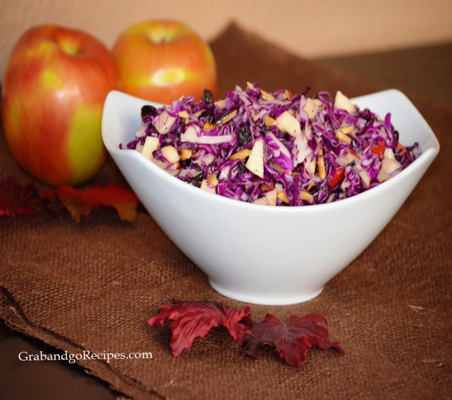 Red Cabbage Cranberry Apple Salad