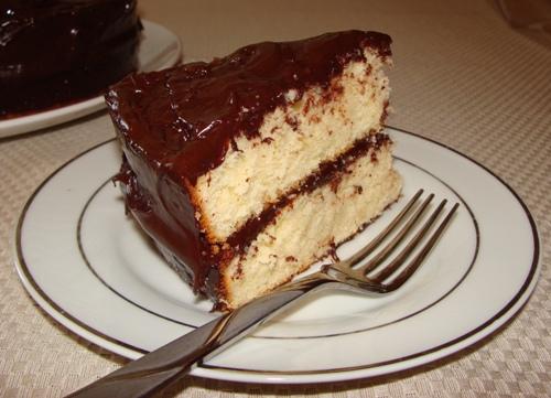 Fluffy Yellow Cake with Chocolate Frosting - GrabandgoRecipes.com ...