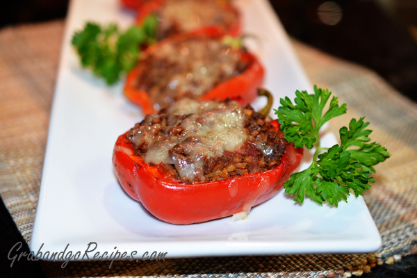 recipe: stove top stuffed peppers in tomato sauce [15]