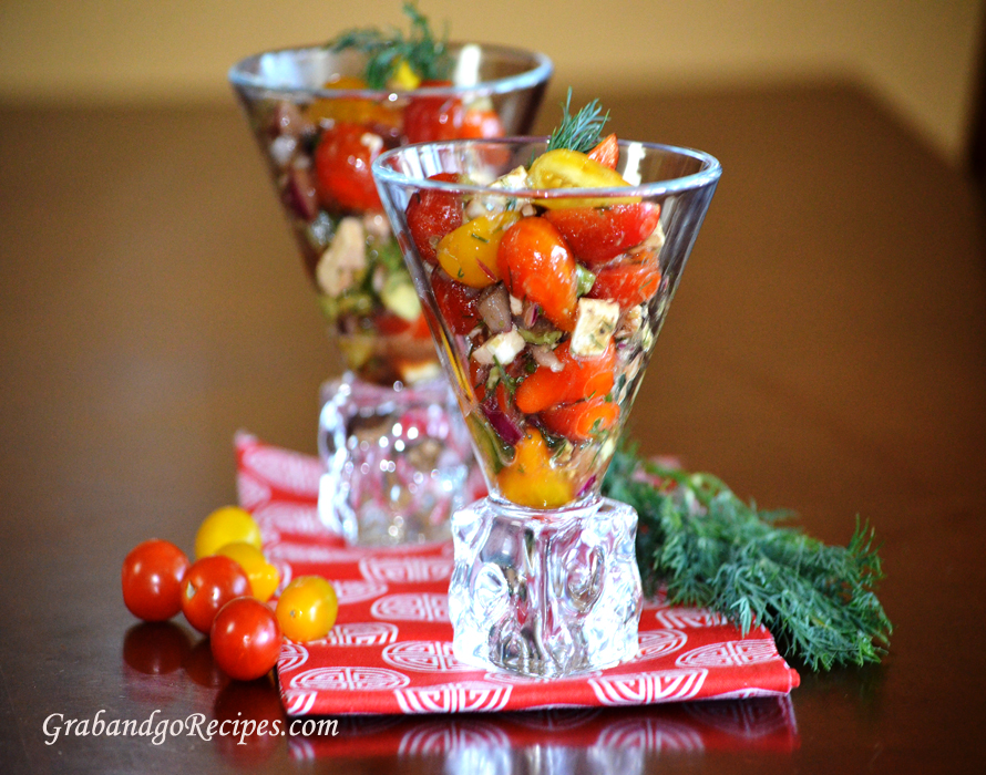 Tomato Avocado Feta Cheese Salad Recipe