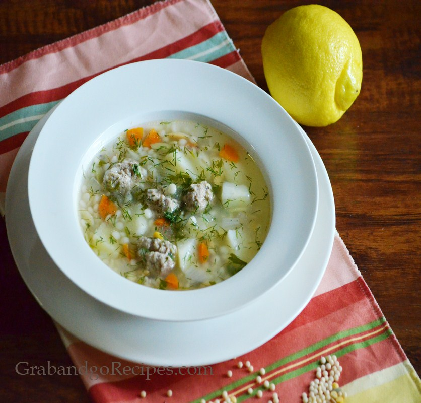 Harvest Grains Blend Soup with Chicken Meatballs