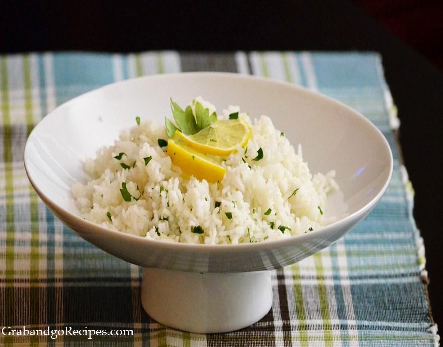 Cilantro Lemon Rice Recipe