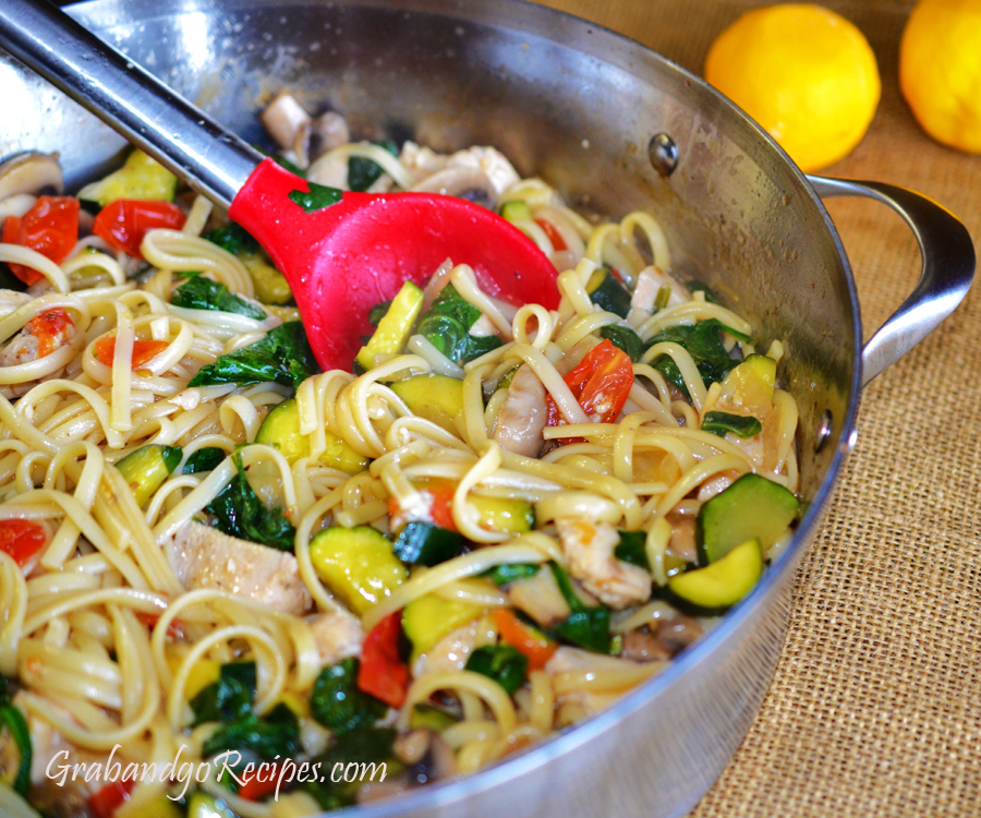 Sauteed chicken with vegetables recipe
