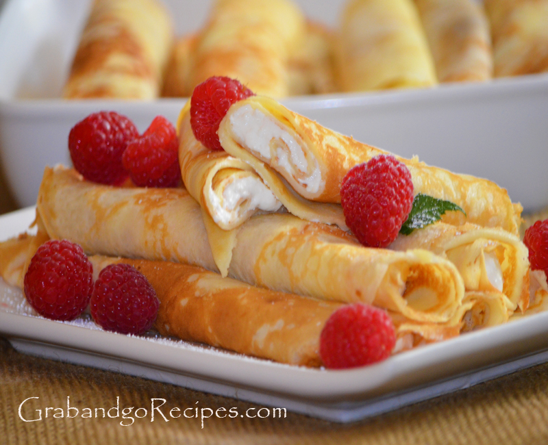 Blintzes – Nalisniki-Blinchiki with Creamy Filling