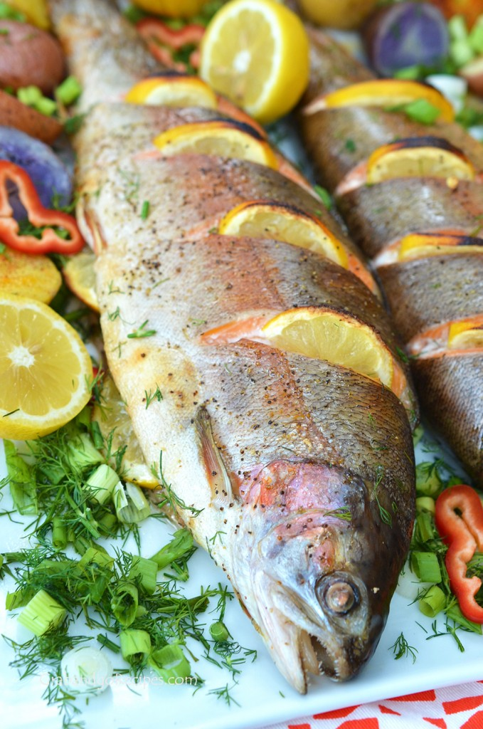 Easy Whole Baked Trout