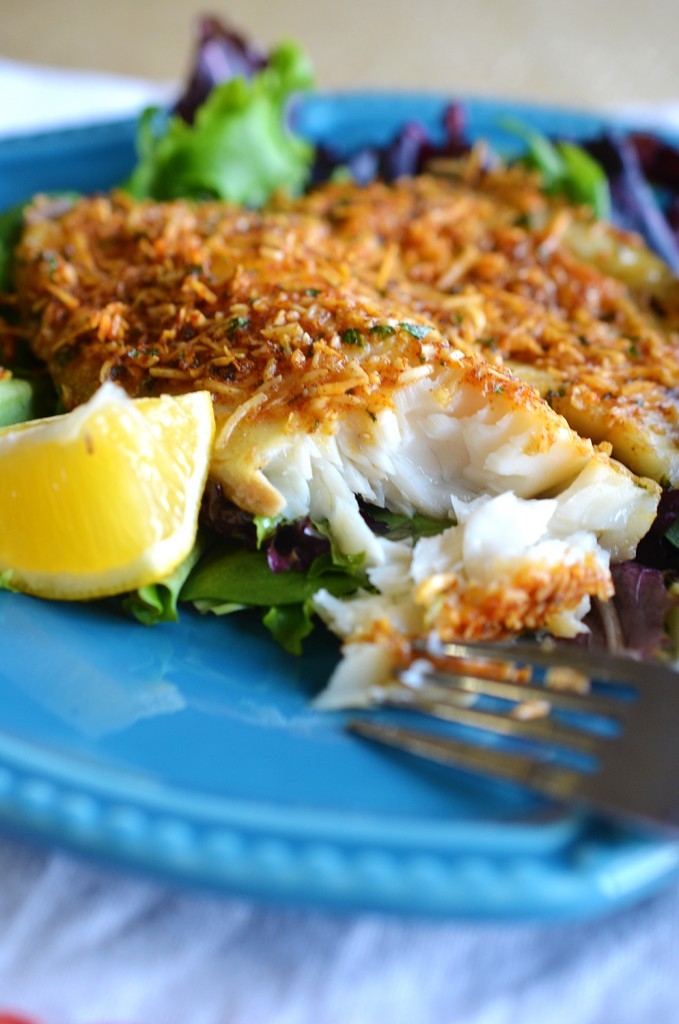 Easy baked parmesan fish for Baked parmesan fish