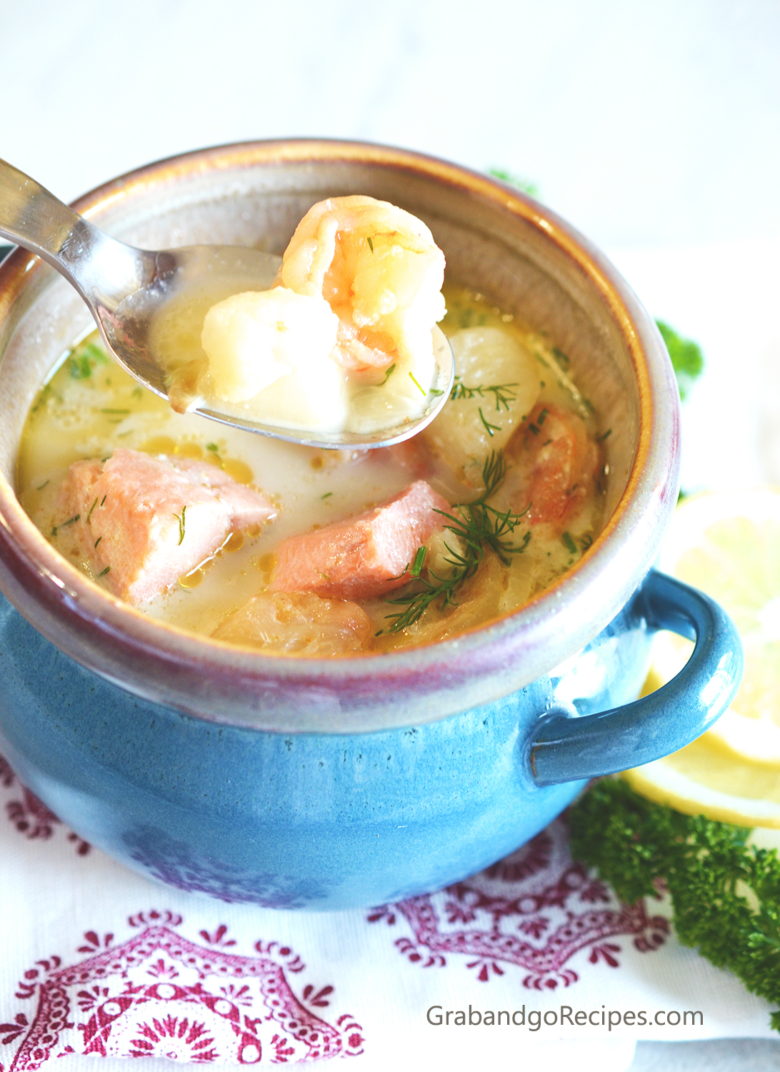 creamy fish soup
